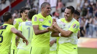 Alessandro Ciarrocchi und Patrick Rossini (r.) dürften beim Rückrundenstart das FCA-Sturmduo bilden.