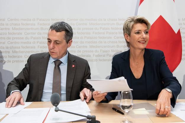 Die FDP-Vertretung im Bundesrat: Ignazio Cassis und Karin Keller-Sutter.