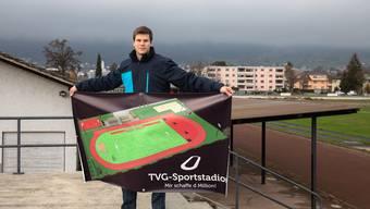 Elias Meier präsentierte im Dezember 2018 die Pläne des neuen Stadions der Öffentlichkeit. (Dezember 2018)