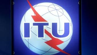 Logo der International Telecommunication Union (ITU) in Genf