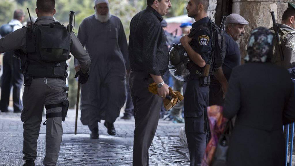 Die Sicherheitslage in Jerusalem ist angespannt. Die jüngste Messerattacke ereignete sich beim Löwentor, dem Eingang zur Jerusalemer Altstadt (Archiv)