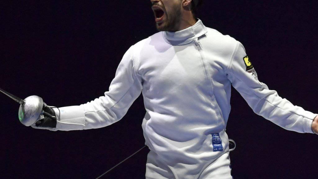 Der Schweizer Degen-Teamleader Max Heinzer scheiterte an den WM in Budapest im Einzel in den Sechzehntelfinals
