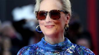 """US-Schauspielerin Meryl Streep wird im nächsten Jahr neben Kollegin Emma Stone oder """"Vogue""""-Chefin Anna Wintour die legendäre Gala des New Yorker Metropolitan Museum of Art leiten. Die """"Met""""-Gala ist der alljährliche Höhepunkt des gesellschaftlichen Lebens an der Ost-Küste. (Archivbild)"""