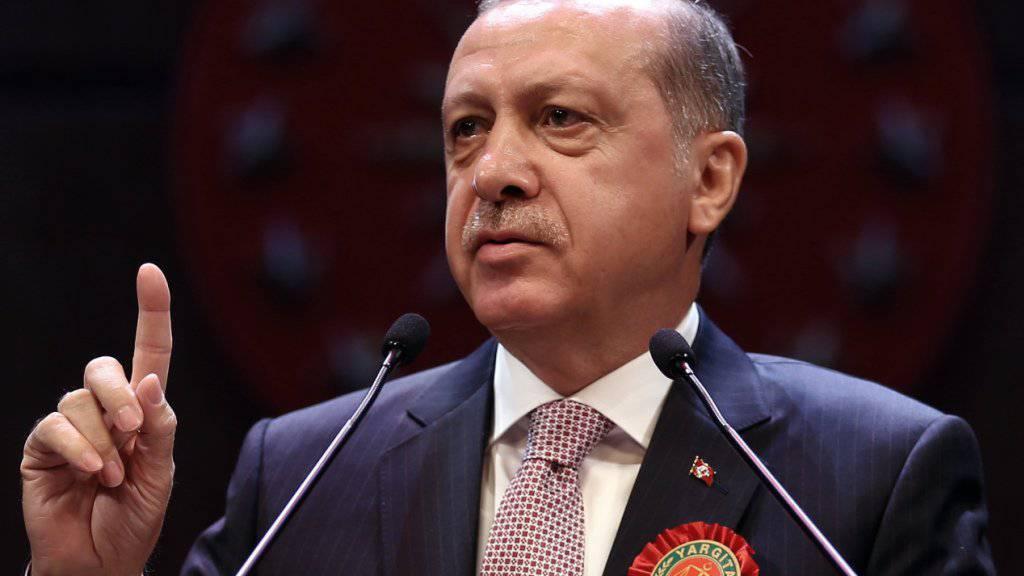 Wirft den Kurden vor, sich nicht an die Abmachung zu halten: der türkische Präsident Recep Tayyip Erdogan.