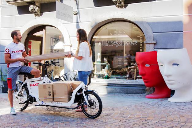 Mit dem Cargobike können die Kunden direkt beliefert werden.