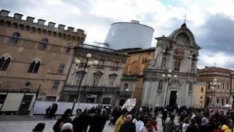 Blick auf L'Aquila: Das Erdbeben wurde auch in der Abruzzen-Hauptstadt gespürt (Archiv)