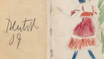 """Ernst Ludwig Kirchners Zeichnung """"Sängerin"""" im Skizzenbuch 6, Fol. 1 (1909) ist Teil der Ausstellung """"Die Skizzenbücher Kirchners. Vom Bleistiftstrich zum Hologramm"""" im Kirchnermuseum in Davos. Die Ausstellung dauert vom 24. November 2019 bis 19. April 2020."""