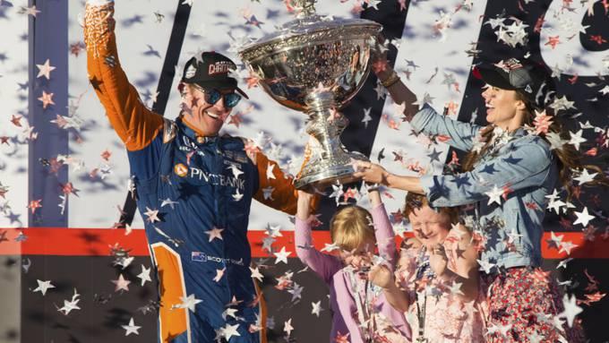 Scott Dixon feiert seinen fünften Titel mit seiner Familie