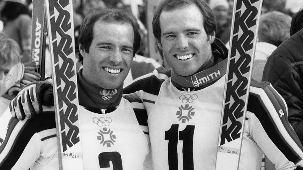 Die Verwechselbaren nach ihrem grossen Triumph im Olympia-Slalom in Sarajevo 1984: Silbermedaillengewinner Steve (links) und Olympiasieger Phil Mahre