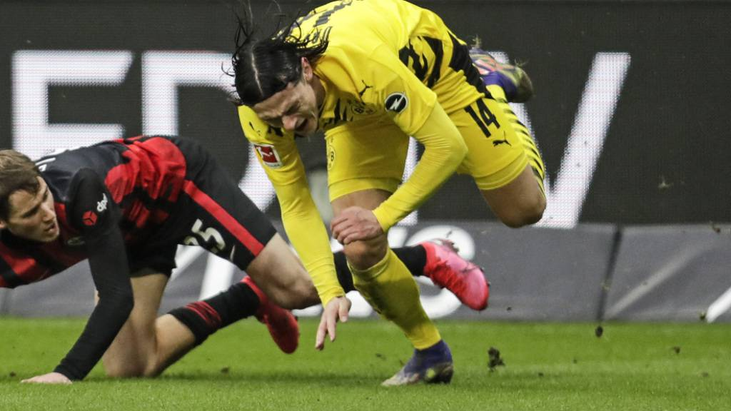 Wieder kein Sieg: Borussia Dortmund und Nico Schulz kommen in Frankfurt ins Straucheln