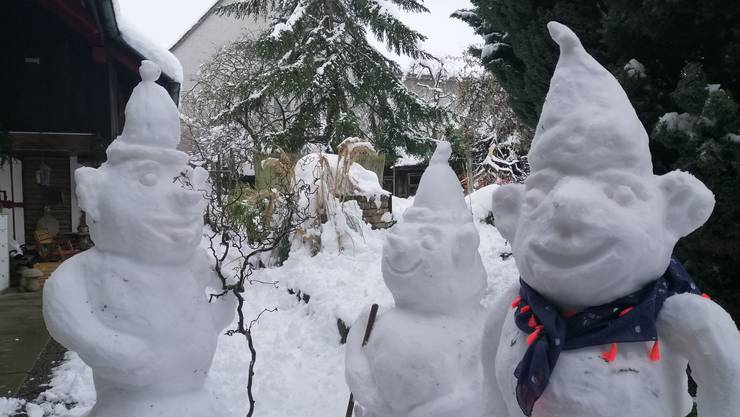 Kreativ, riesig, ausgefallen: Das sind die schönsten Schneefiguren unserer Leserinnen und Leser