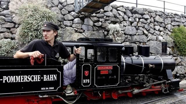 Eine Lokomotive aus dem Swiss Vapeur Parc (Archiv)