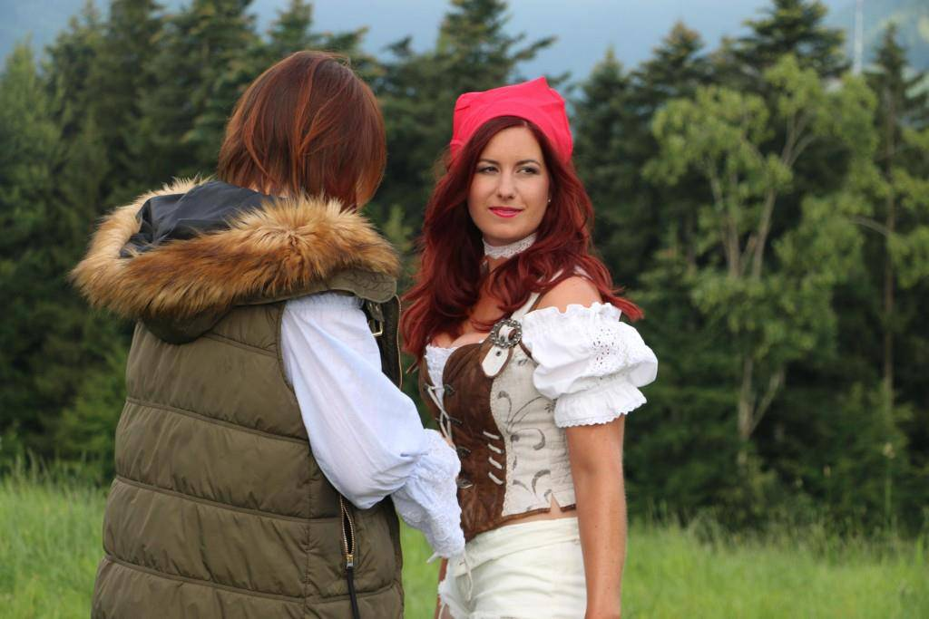 Erika (26) aus Schwyz wird als erstes fotografiert. (© FM1Today/Nina Müller)