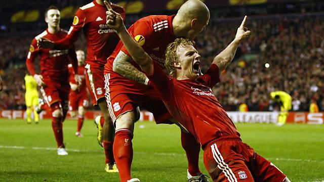 Liverpools Dirk Kuyt erlöste die Fans an der Anfield Road