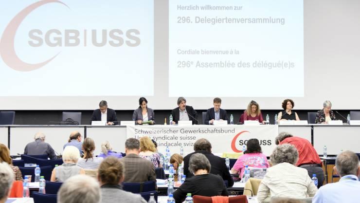 SGB-Delegiertenversammlung am Freitag in Bern.