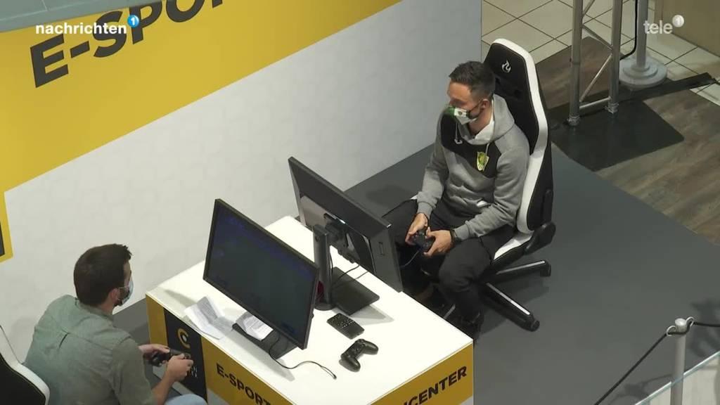 SCK-Spieler Bürgisser am FIFA-Turnier