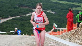 Martina Strähl an der Berglauf-EM.