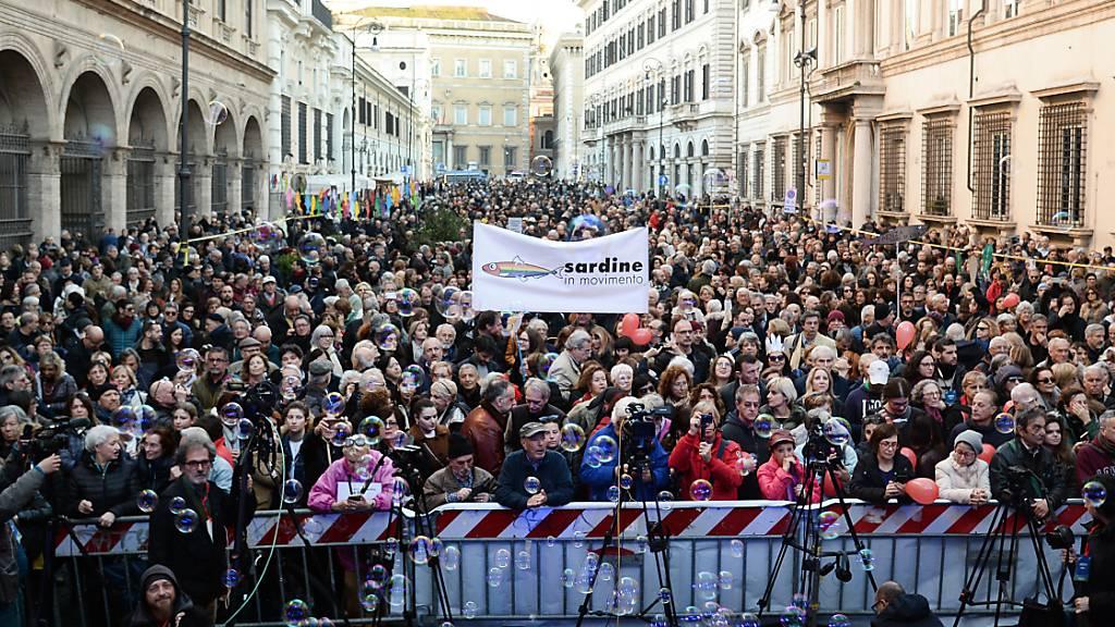 Anti-Populisten-Bewegung demonstrierte in Rom