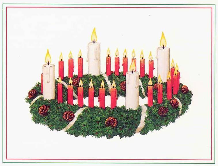 Etwa so soll der erste Adventskranz ausgesehen haben. (Bild: Nils Fretwurst/Stiftung Rauhes Haus Hamburg)