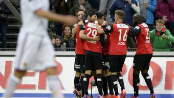 Bilder vom Spiel Aarau - Basel