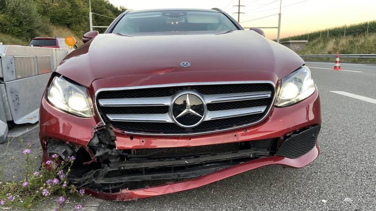 Am Fahrzeug des 68-Jährigen entstand Sachschaden.