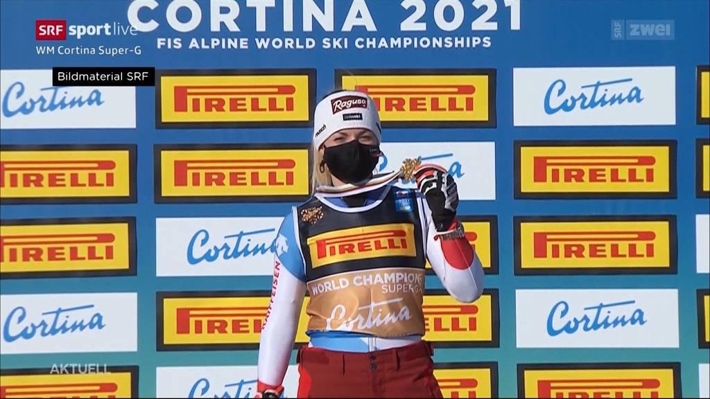Schweizer Doppelsieg in Cortina: Lara Gut-Behrami holt WM-Gold, Corinne Suter Silber