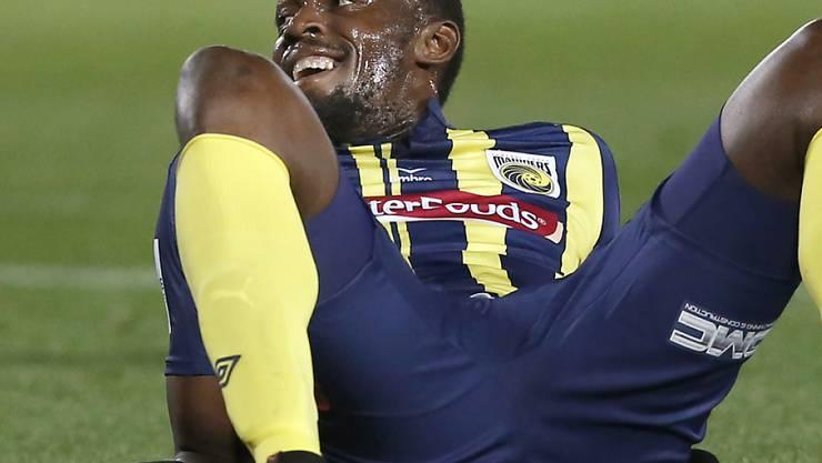 Sprint-Legende Usain Bolt spielte vorübergehend in der australischen A-League Fussball. (Archivbild)