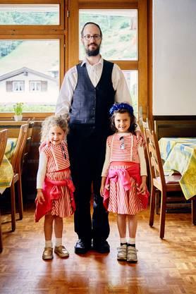 Die jüdische Familie aus Manchester hat gleich ein ganzes Hotel in Saas-Grund gemietet.