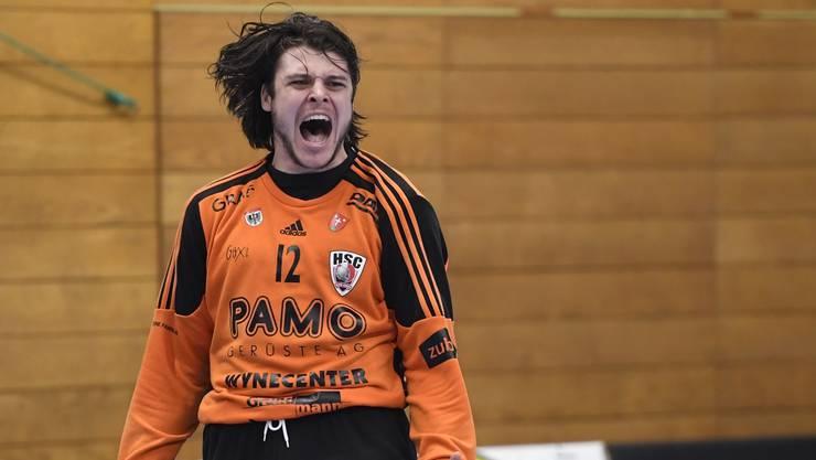 HSC-Torhüter und Co-Captain Dario Ferrante hatte mit seiner starken Leistung in der Schlussphase massgeblichen Anteil am HSC-Sieg.