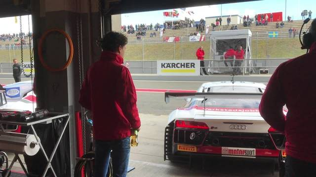 So klingt der Audi RS8 LMS von Ricardo Feller, wenn er losfährt