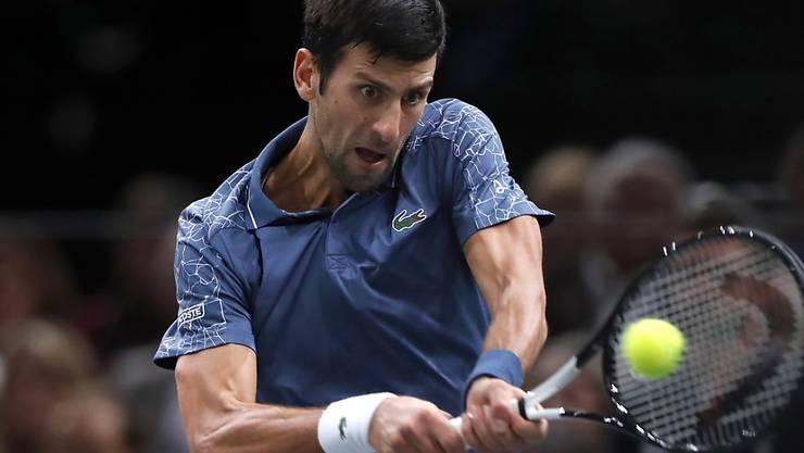 Darf sich trotz Finalniederlage in Paris-Bercy freuen: Tennis-Star Novak Djokovic