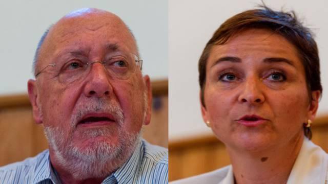 Karin Funk und Hans Ulricher Reber kämpfen um das Ammannamt in Würenlos.