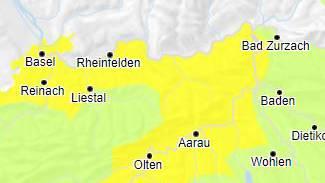 Am Mittwoch noch mässige Hochwassergefahr am Rhein zwischen Koblenz und Basel