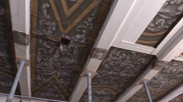 Deckenmalereien im Morell-Haus sind unbeschädigt
