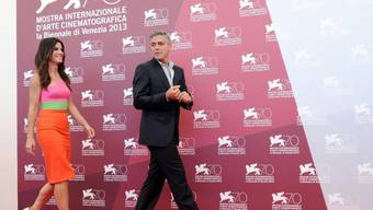 US-Schauspieler Sandra Bullock und George Clooney in Venedig