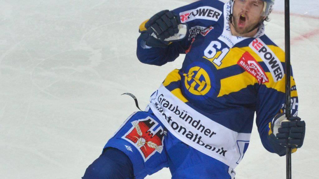 Der NHL-Spieler Rick Nash jubelte in seiner langen Karriere auch für den HC Davos - nun tritt der Kanadier nach einer Gehirnerschütterung zurück