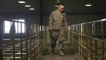 US-Wachmann im berüchtigten Bagram-Gefängnis (Archivbild)