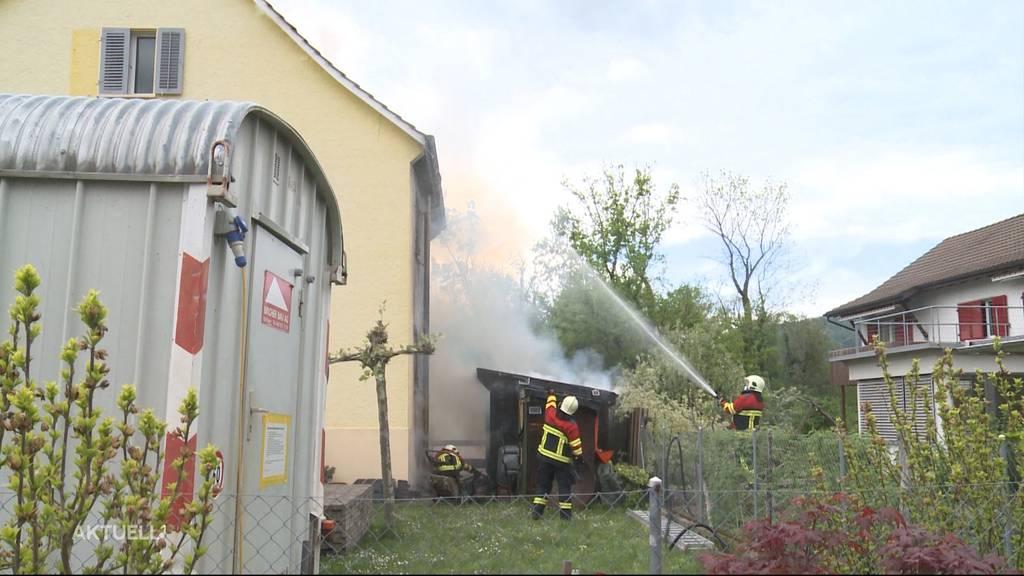 Brand in Aarau: Eine Person muss verletzt ins Spital