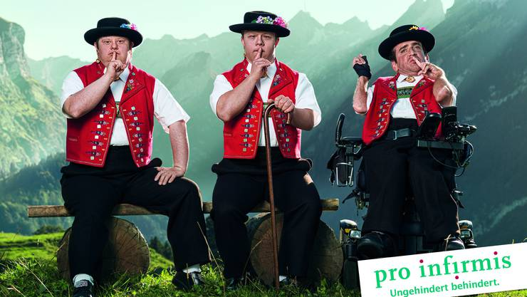 Werbung mit bekanntem Werbesujet: Pro Infirmis adaptiert für ihre aktuelle Kampagne zu Gunsten von Behinderten etwas das Sujet vom «Appenzeller».