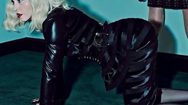 Madonna und Katy Perry: Fotoshooting mit Lack und Leder