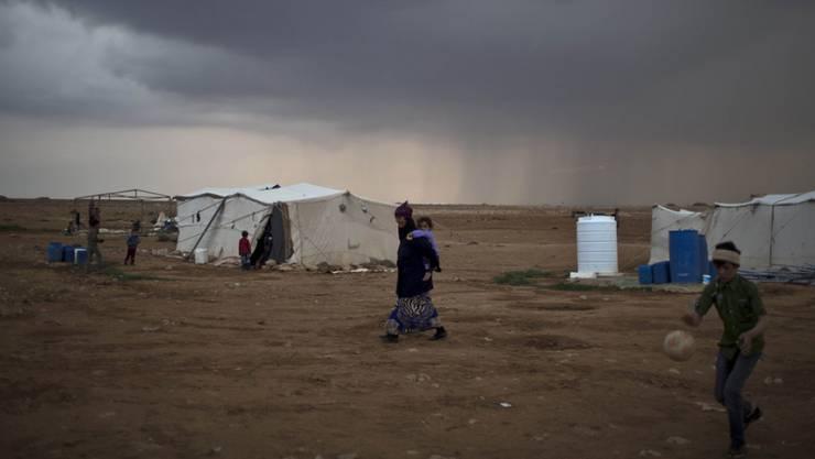 Flüchtlingszelte in Syrien. (Symbolbild)