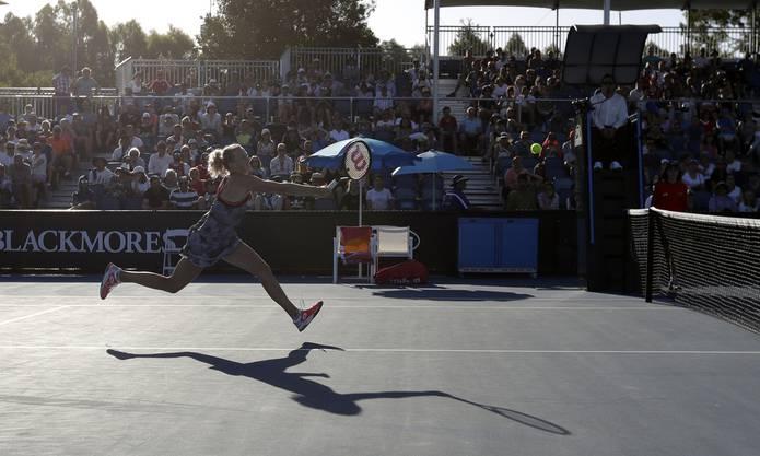 ... die 15 Positionen besser klassierte Tschechin Katerina Siniakova.