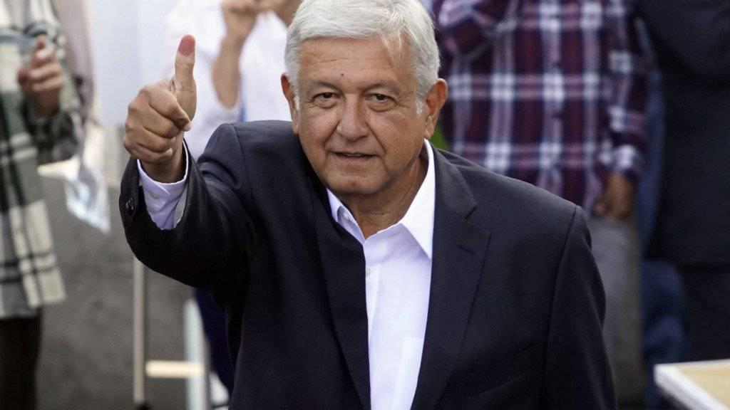 Wahlsieg: Der neue Präsident Mexikos heisst Andrés Manuel López Obrador.