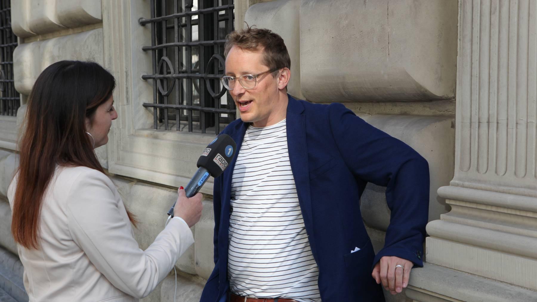 Grosse Freude bei Maurus Frey, dem Präsidenten der Grünen Kanton Luzern