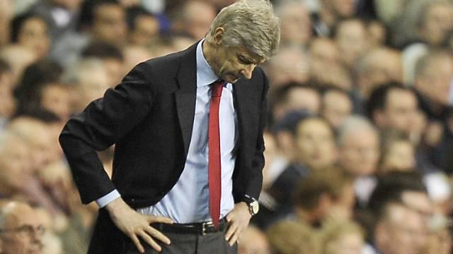 Für Arsenal mit Coach Wenger sind die Meisterträume wohl geplatzt