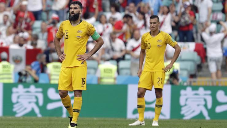 Die Enttäuschung steht den Australiern ins Gesicht geschrieben.