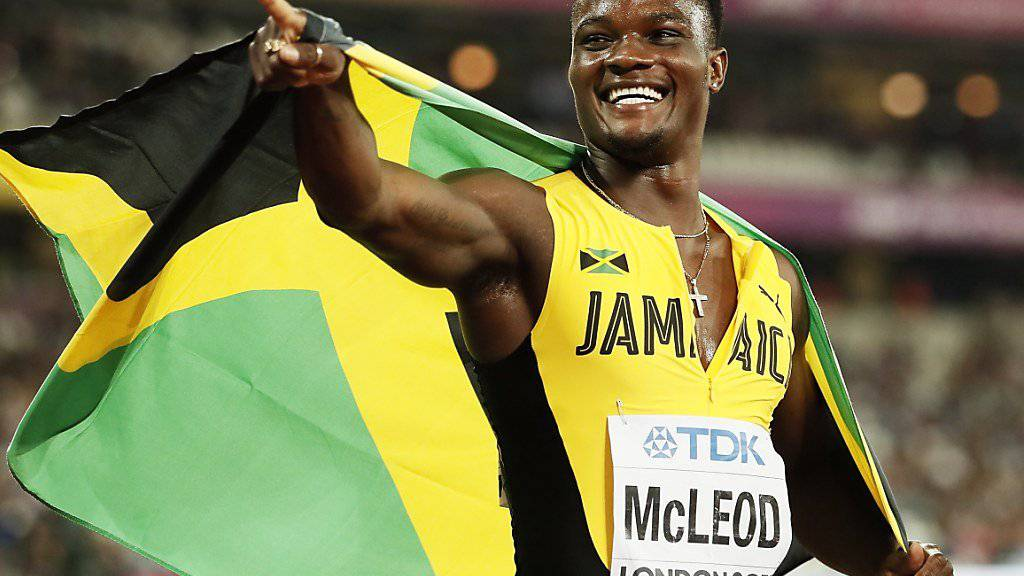 Omar McLeod hielt dem Druck stand und holte an der WM in London über 110 m Hürden die erste Goldmedaille für Jamaika