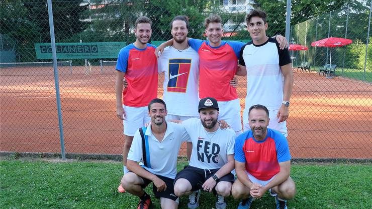 Die Spieler des Tennisclubs Rheinfelden stiegen aus der NLC ab. zvg