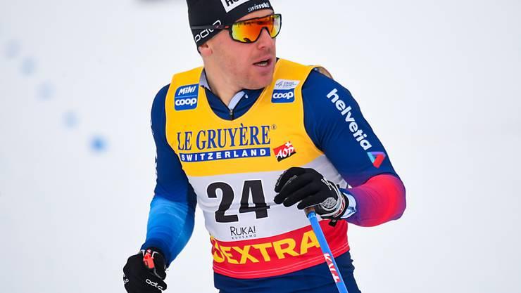 Gespannter Blick, gutes Resultat: Jovian Hediger erreichte in Kuusamo erstmals in klassischer Technik einen Sprint-Final