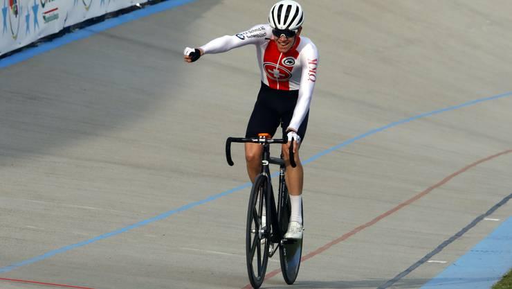 Fabian Weiss gewann an der Junioren-EM in Italien die Bronzemedaille.